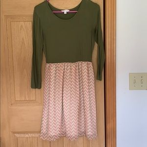 Green and Pink Charming Charlie Dress